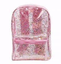 Backpack: Glitter - transparent/pink