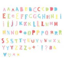 Lightbox letter set: Funky - kleur