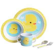 kids dinner set duck