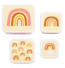 Lunch & snack box set: Regenbogen