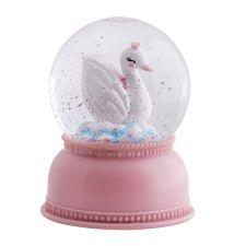 snowglobe light swan