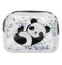 Toilettasje: Glitter - panda