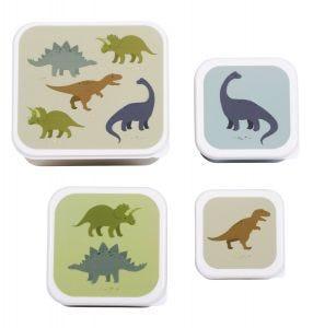 Lunch & snack box set: Dinosaurussen