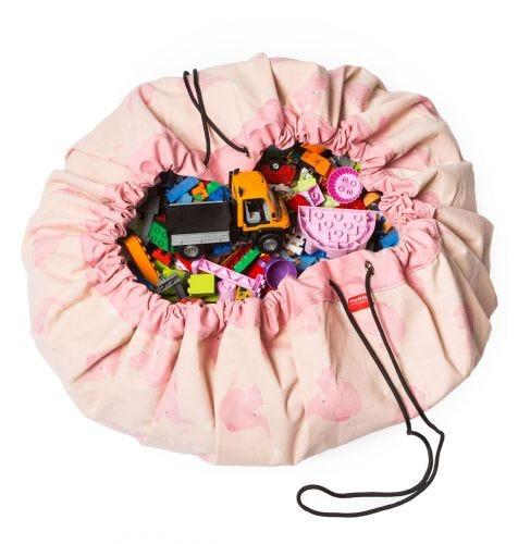 Toy storage bag: Olifant - roze