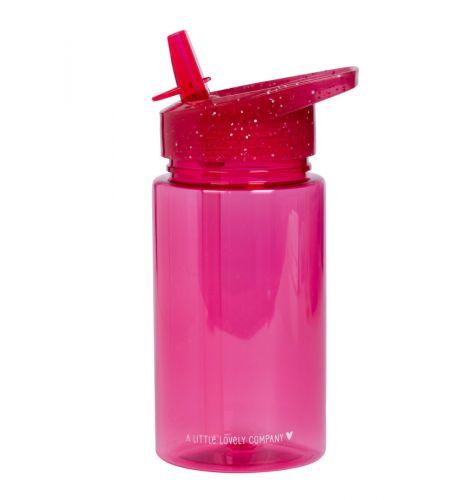 Drinkfles: Glitter - roze