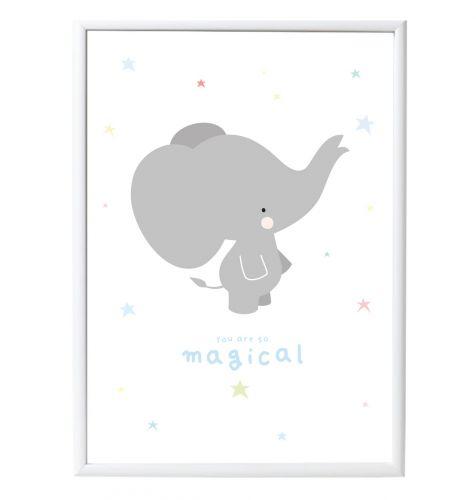 Poster: Olifant - grijs