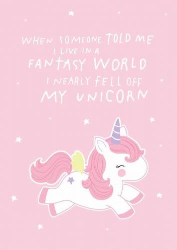 Kaartje fantasy unicorn