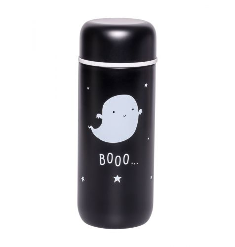 Insulated stainless steel drink bottle: Ghost front
