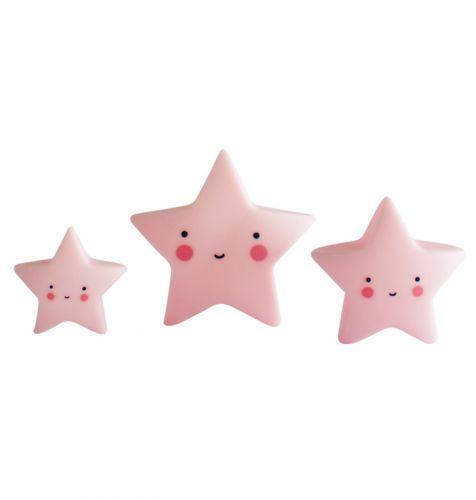 Mini's: Sterren - roze