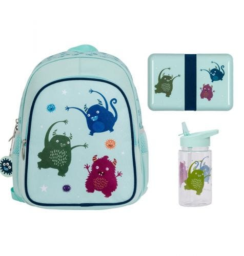 School set lunch schoolset back to school kids kinder peuter A Little Lovely Company