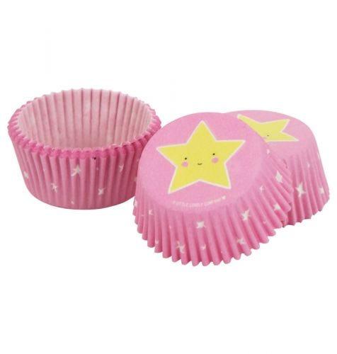 pink cupcake cases unicorn star