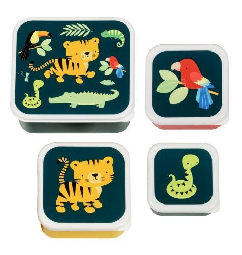 Lunch & snack box set: Jungle tijger