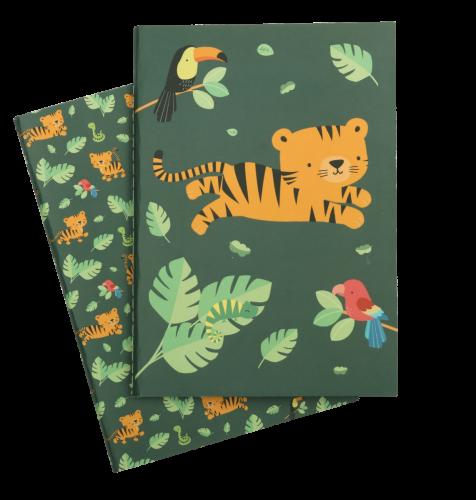 A5 schriftjes met jungle tijger