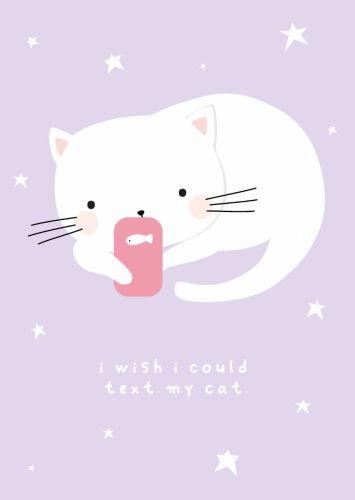 Kaartje texting cat
