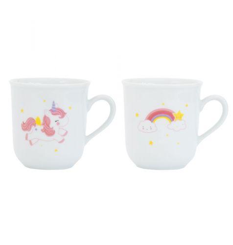 Eenhoorn en regenboog thee kopje