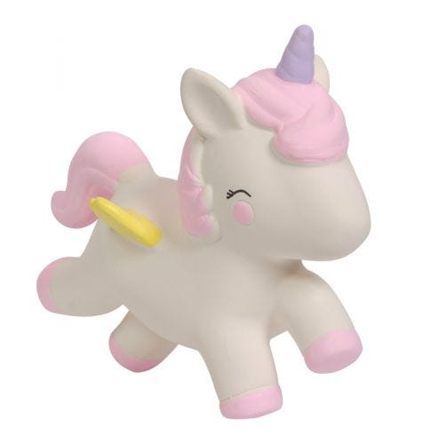 teething toy unicorn side view