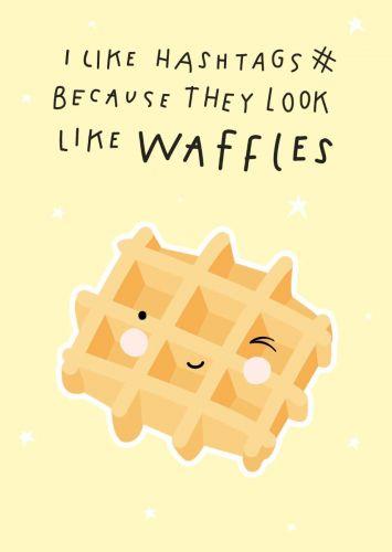 Kaartje: Waffles
