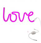 Neon stijl lamp: Love - roze + dimmer